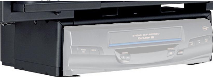 Black VCR/DVD Player Mount