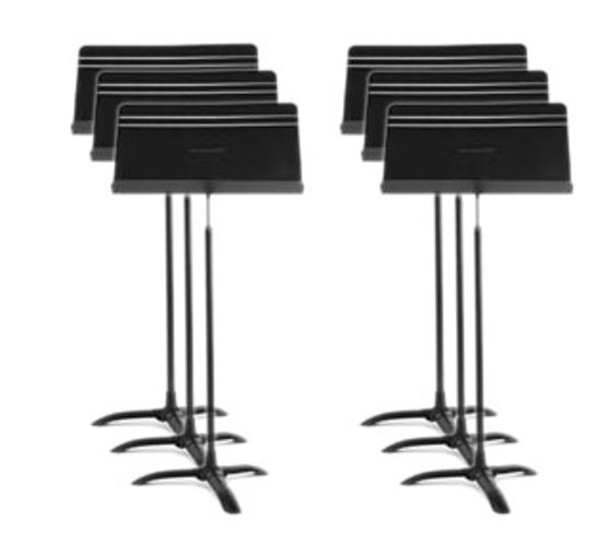 6-Pack of Symphony Music Stands in Black