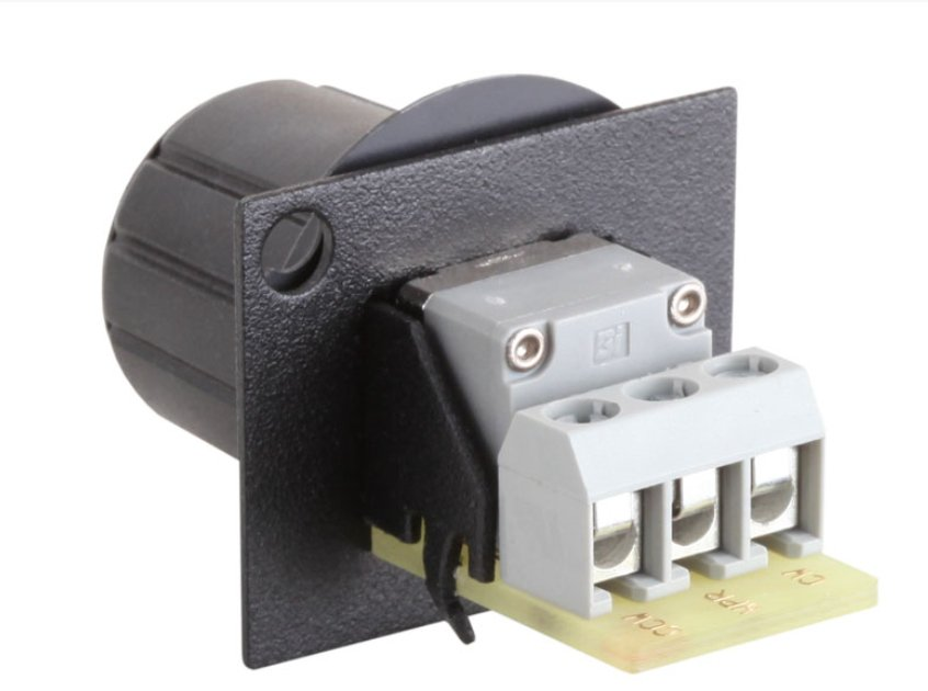 10 kOhm Audio Taper Knob Assembly with Terminal Block