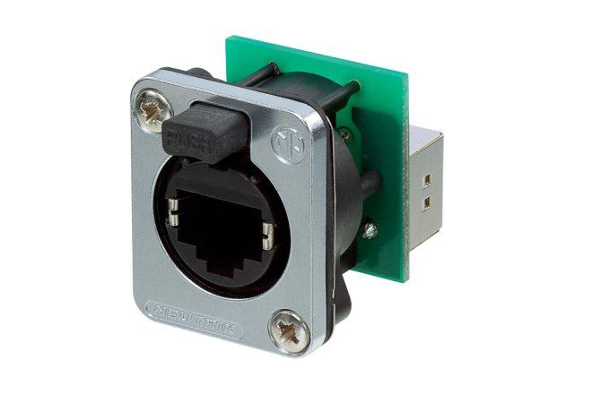 Panel Mount etherCON Feed Thru Connector with SE8FD Sealing Kit
