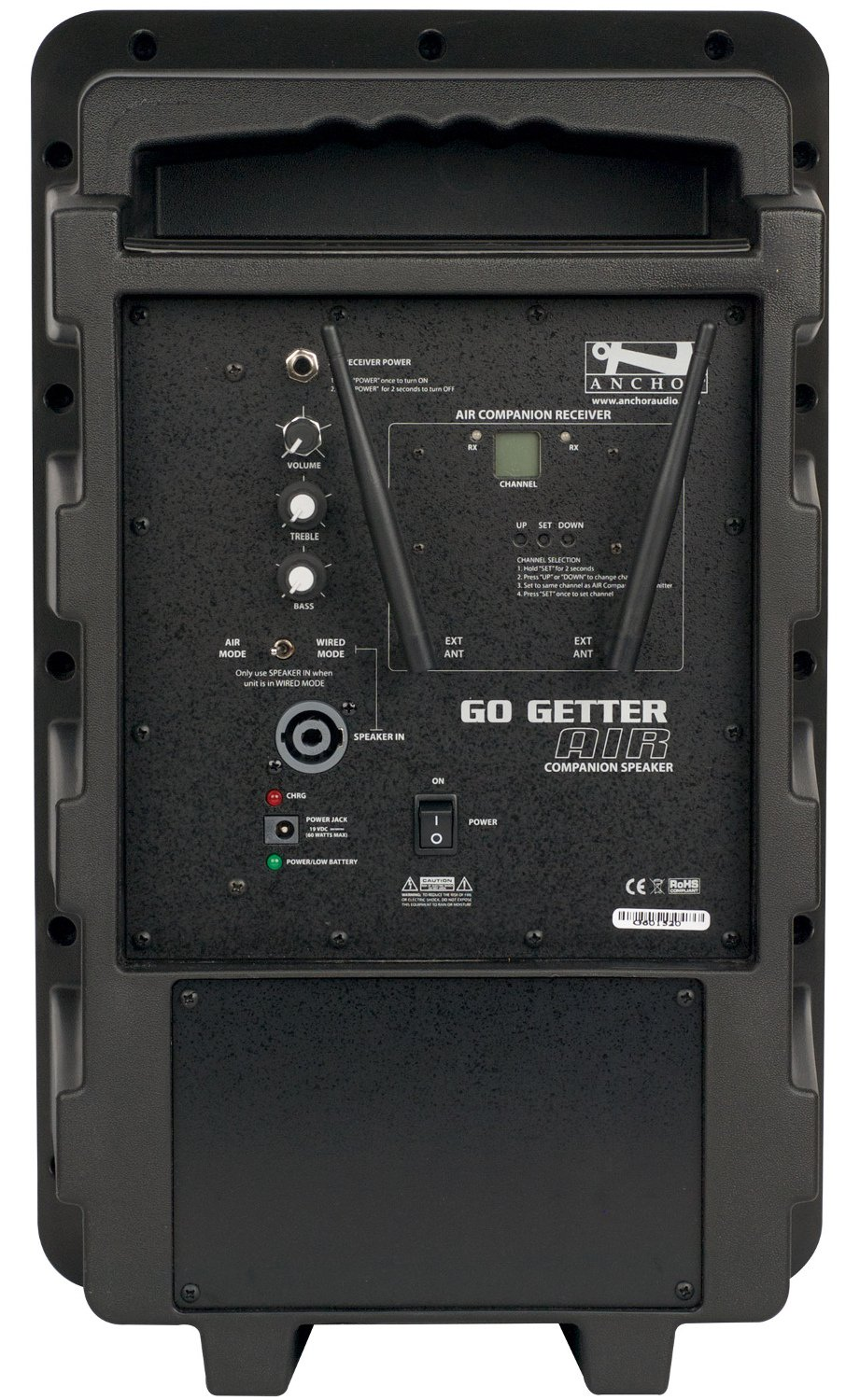 Go Getter Dual Deluxe Bluetooth-enabled PA System with Companion Speaker, Bodypack Transmitter, Lavalier Microphone and Choice of 2nd Transmitter/Mic