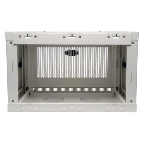 SmartRack 6RU Low-Profile Wall-Mount Rack Enclosure Cabinet, White