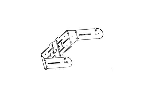 U-Bracket for Control 25-1/1L, Black