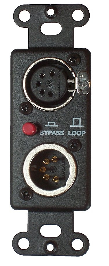 One Male, One Female 5-Pin XLR Passthrough with User Switch