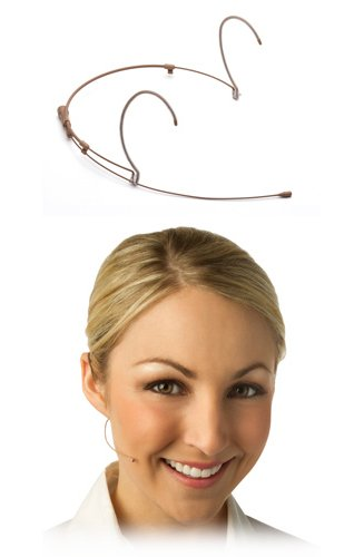 H6 Directional Headset Microphone for Shure Wireless, in Tan