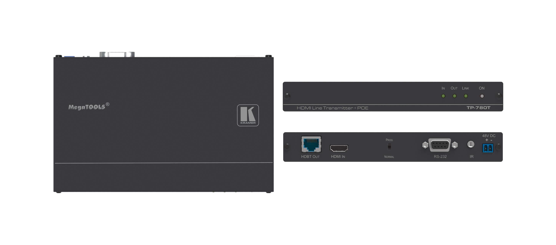 4K UHD HDMI HDBaseT Transmitter with POE