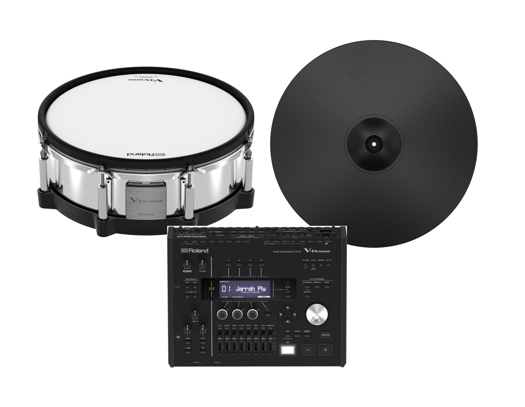 Digital Upgrade Pack with TD-50 Drum Module, PD-140DS and CY-18DR Digital Snares