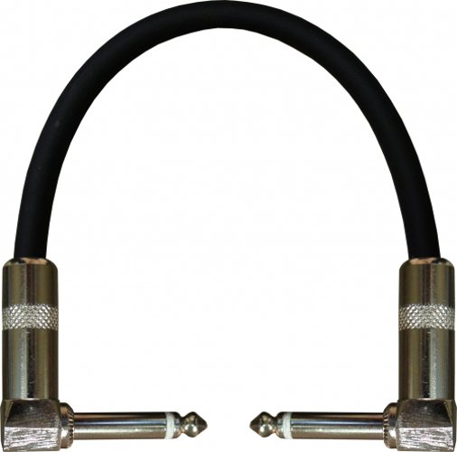 "6"" Stagemaster Right Angle TS to Right Angle TS Instrument Cable"