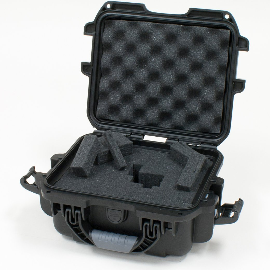 Black Waterproof Case with Diced Foam Interior
