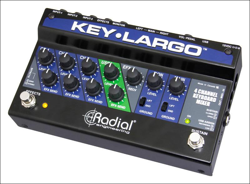 Keyboard Mixer, Performance Pedal and DI Box