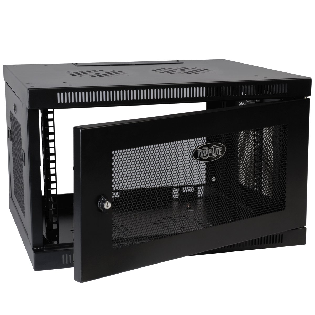 SmartRack 6RU Low-Profile Switch-Depth-Plus Wall-Mount Rack Enclosure Cabinet, Black