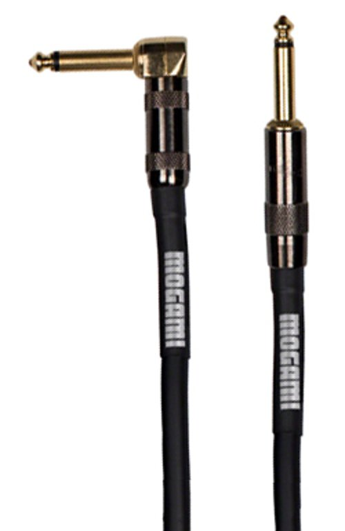 Mogami GOLD-INSTRUMENT-R25 Guitar Cable TS-TS Right angle 25ft GOLD-INSTRUMENT-R25