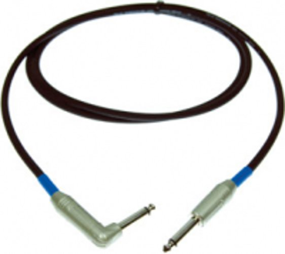 """20 ft. Excelline Straight to Right-Angle 1/4"""" TS Male to Male Guitar Cable"""