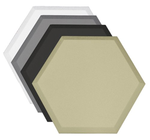 "Hexagonal Acoustic Absorber with Beveled Edge, 14""x16""x1.5"""