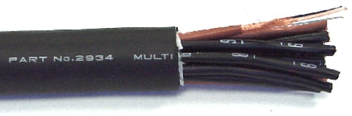 Black 8-Pair Multicore Snake Cable, Priced by the Foot
