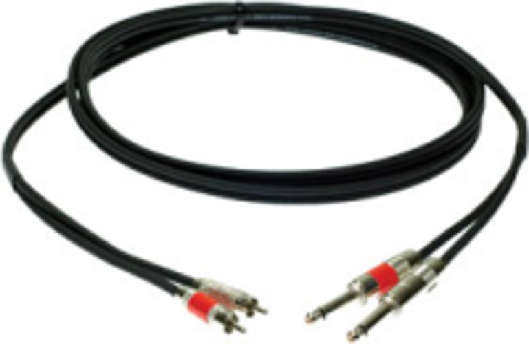 """Pro Co DKQR-10 10 ft. Dual 1/4"""" TS Male to RCA Male Excellines Patch Cable DKQR10"""