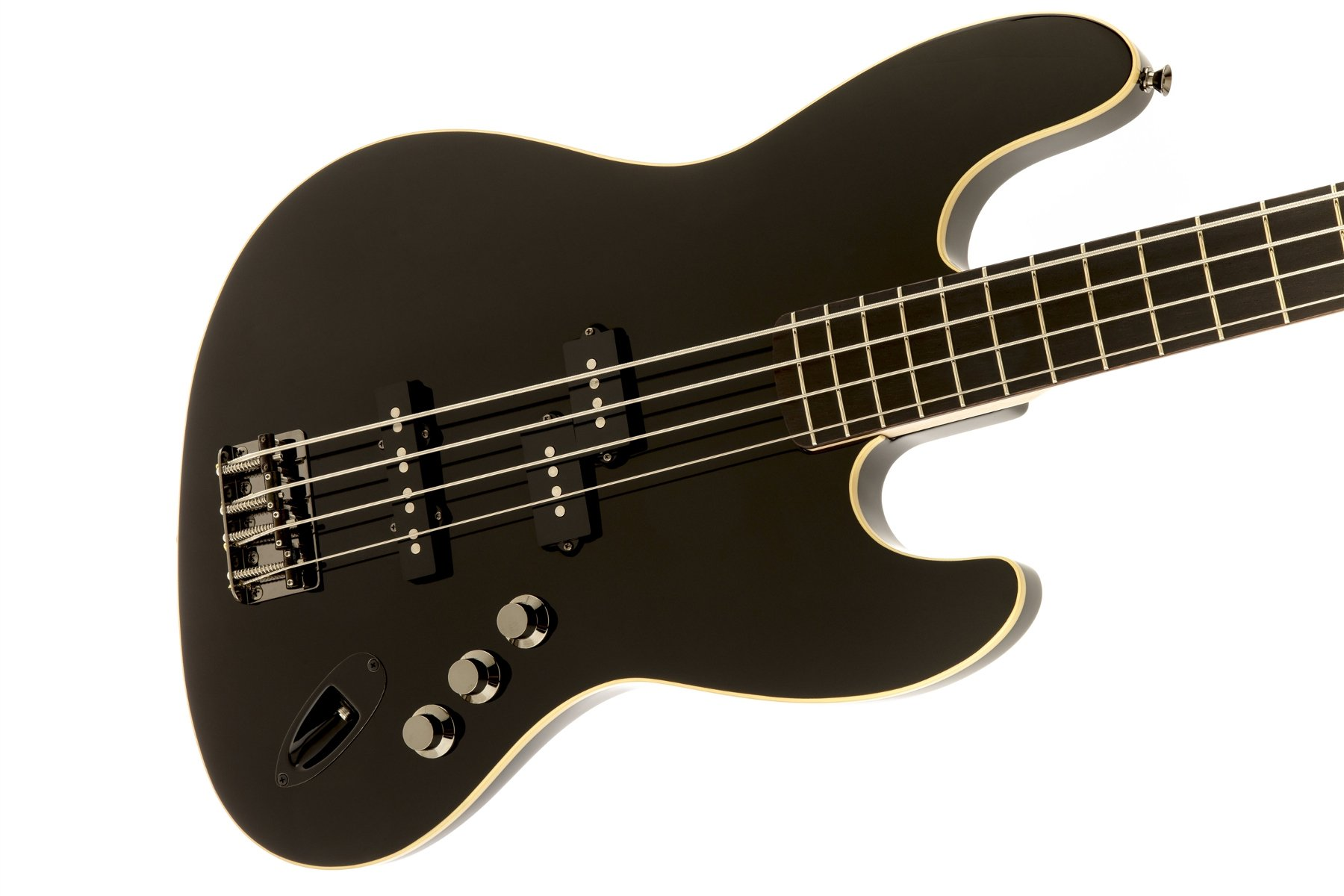 Electric Bass with Rosewood Fingerboard, Black Finish