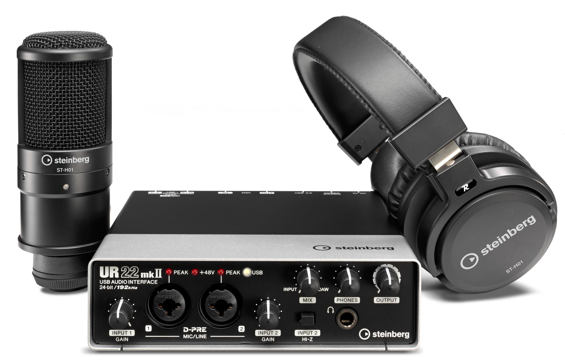 Steinberg UR22MKII-REC-PACK UR22mkII Recording Pack 2 X 2
