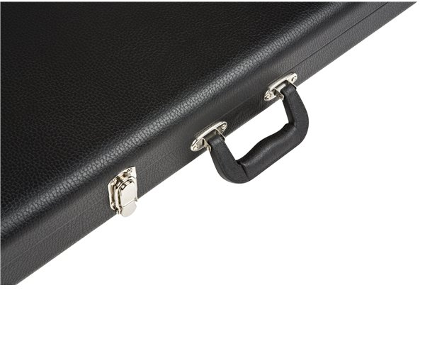 Fender Pro Series Bass Case for Precision & Jazz Bass Hardshell Case with Black Plush Interior 099-6173-306