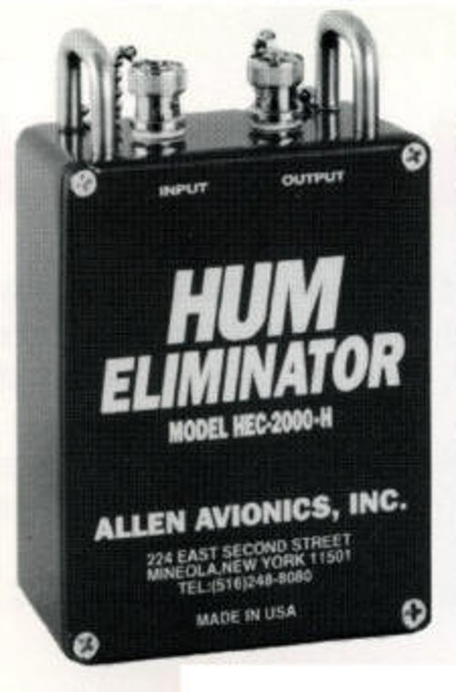 Allen Avionics HEC-2000-H Video Hum Eliminator with Handles HEC2000H