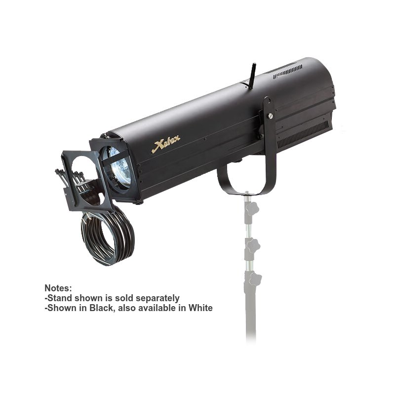 230W Short to Medium Throw LED Followspot with Boomerang Included