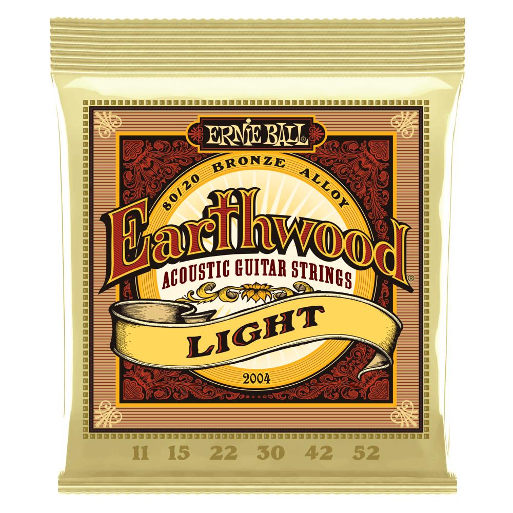 Ernie Ball P02004  Earthwood Light 80/20 Bronze Alloy Acoustic Guitar Strings P02004