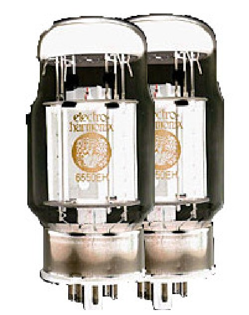 Matched Pair of 6550 Power Vacuum Tubes