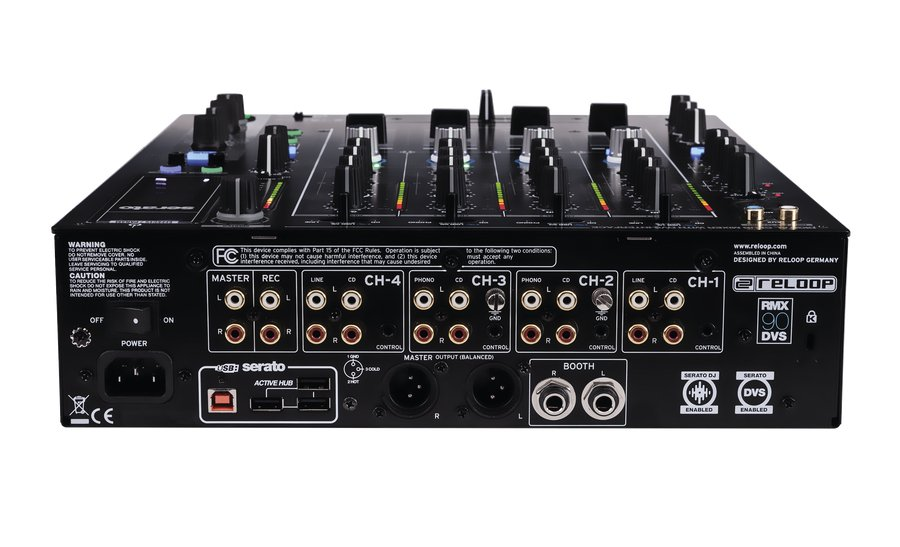 4 channel club DJ mixer with Serato DVS support