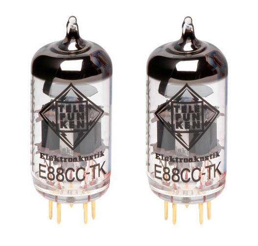 Telefunken Elektroakustik E88CC-TK-PAIR Pair of E88CC Black Diamond Series Preamplifier Vacuum Tubes E88CC-TK-PAIR