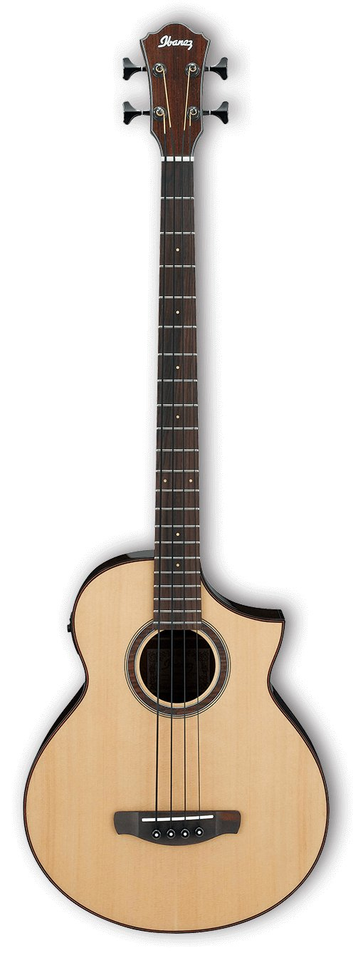 Acoustic Electric Bass Guitar - Natural High Gloss