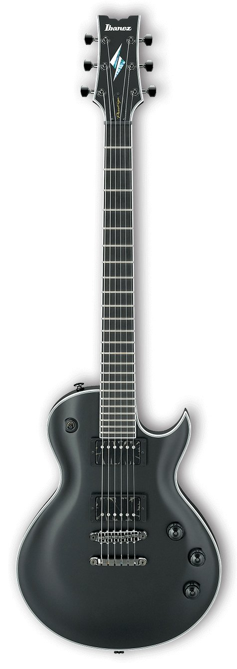 Ibanez ARZ6UCS Prestige Uppercut Electric Guitar with Case - Black Flat ARZ6UCSBKF