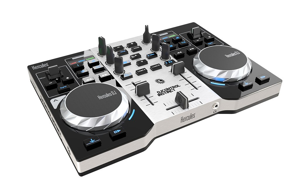 2-Channel DJ Controller with LED Party Light