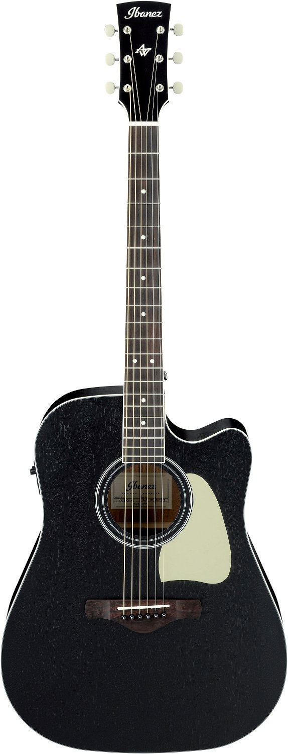 Artwood Dreadnought Acoustic Electric Guitar - Weathered Black Open Pore