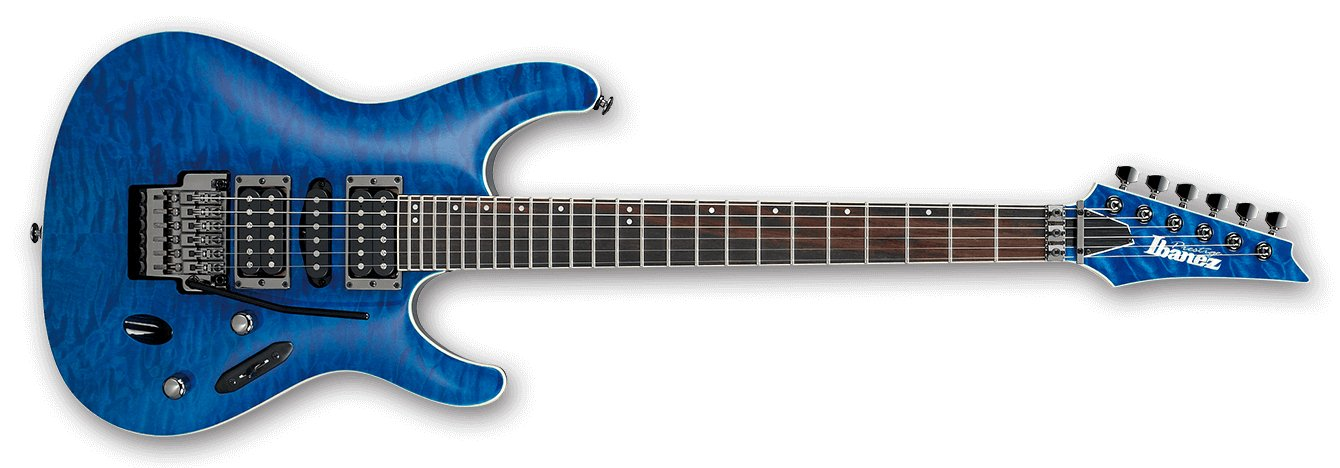 Natural Blue S Prestige 6 String Electric Guitar with Case