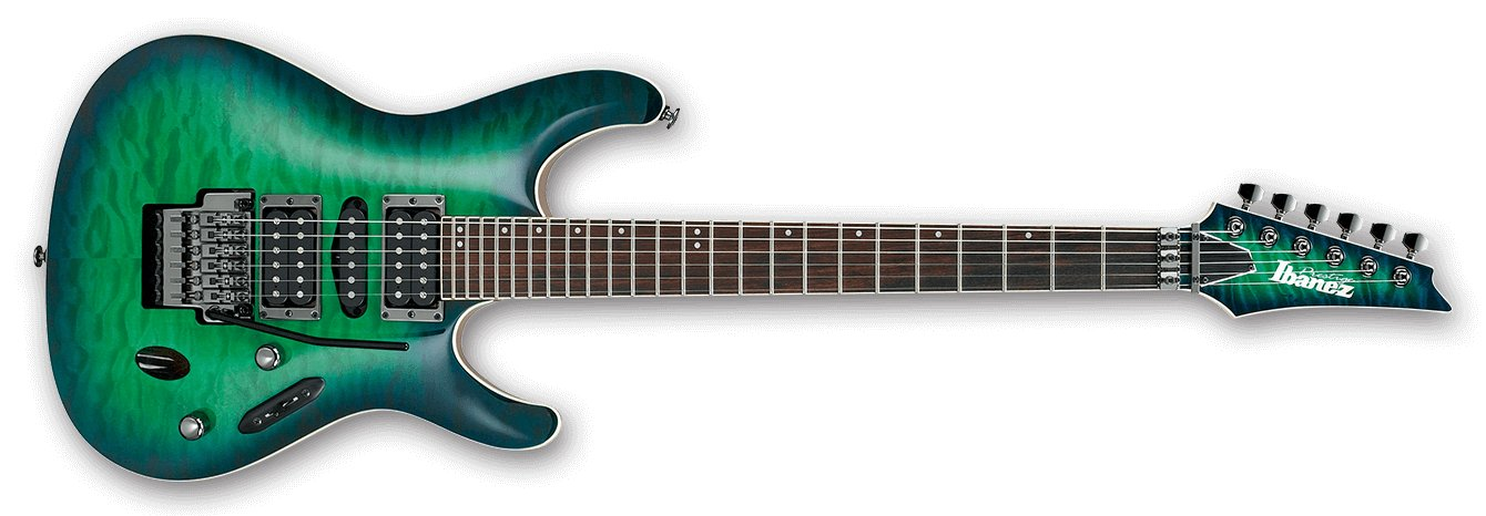Surreal Blue Burst Gloss S Prestige 6-String Electric Guitar with Case