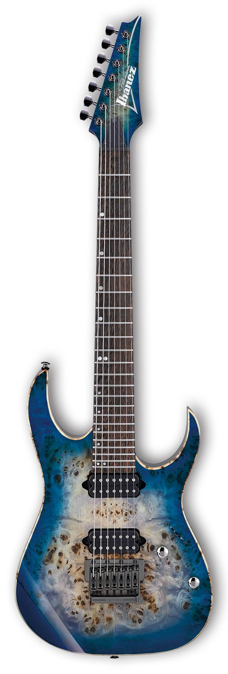 Ibanez RG1027PBF RG Premium 7-String Electric Guitar with Case - Cerulean Blue Burst RG1027PBFCBB