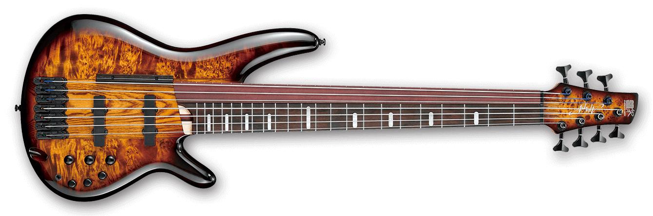 SR Bass Workshop 7 String Electric Bass - Dragon Eye Burst