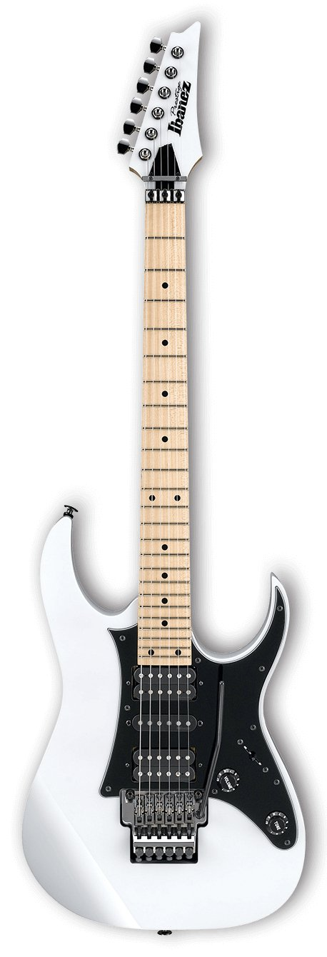 RG Prestige 6-String Electric Guitar with Case - White