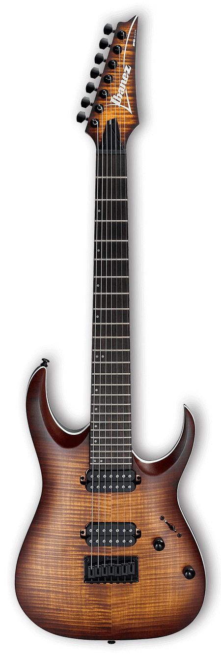 RGA Standard 7-String Electric Guitar - Dragon Eye Burst Flat