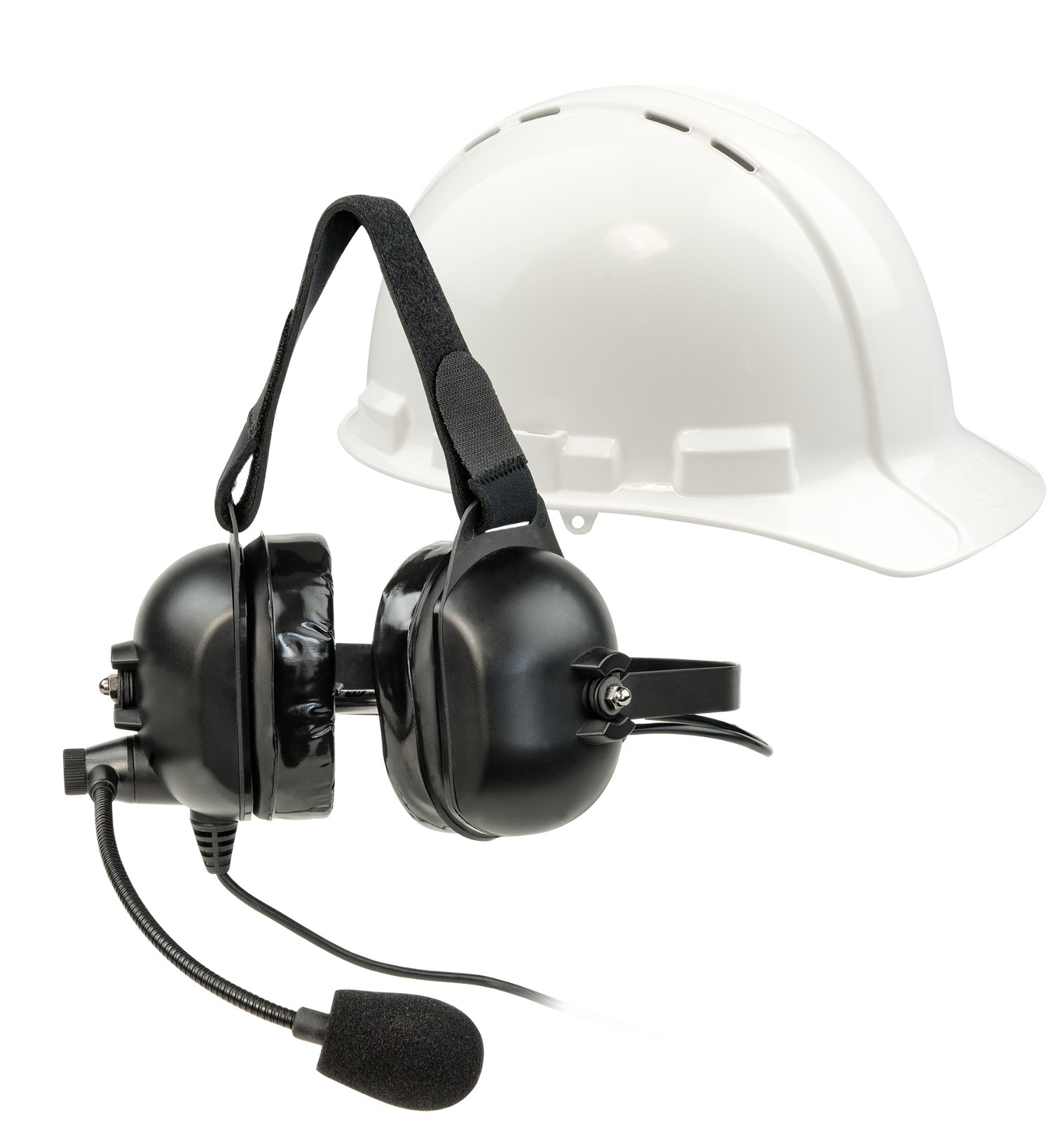 Headset 5, Dual Over-Ear Headset with Boom Microphone