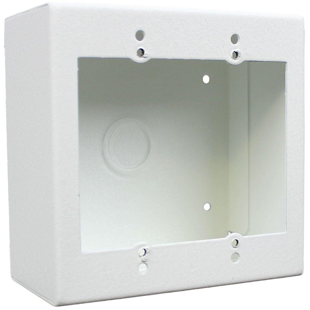 2 Gang Surface Mount Wall Box, White
