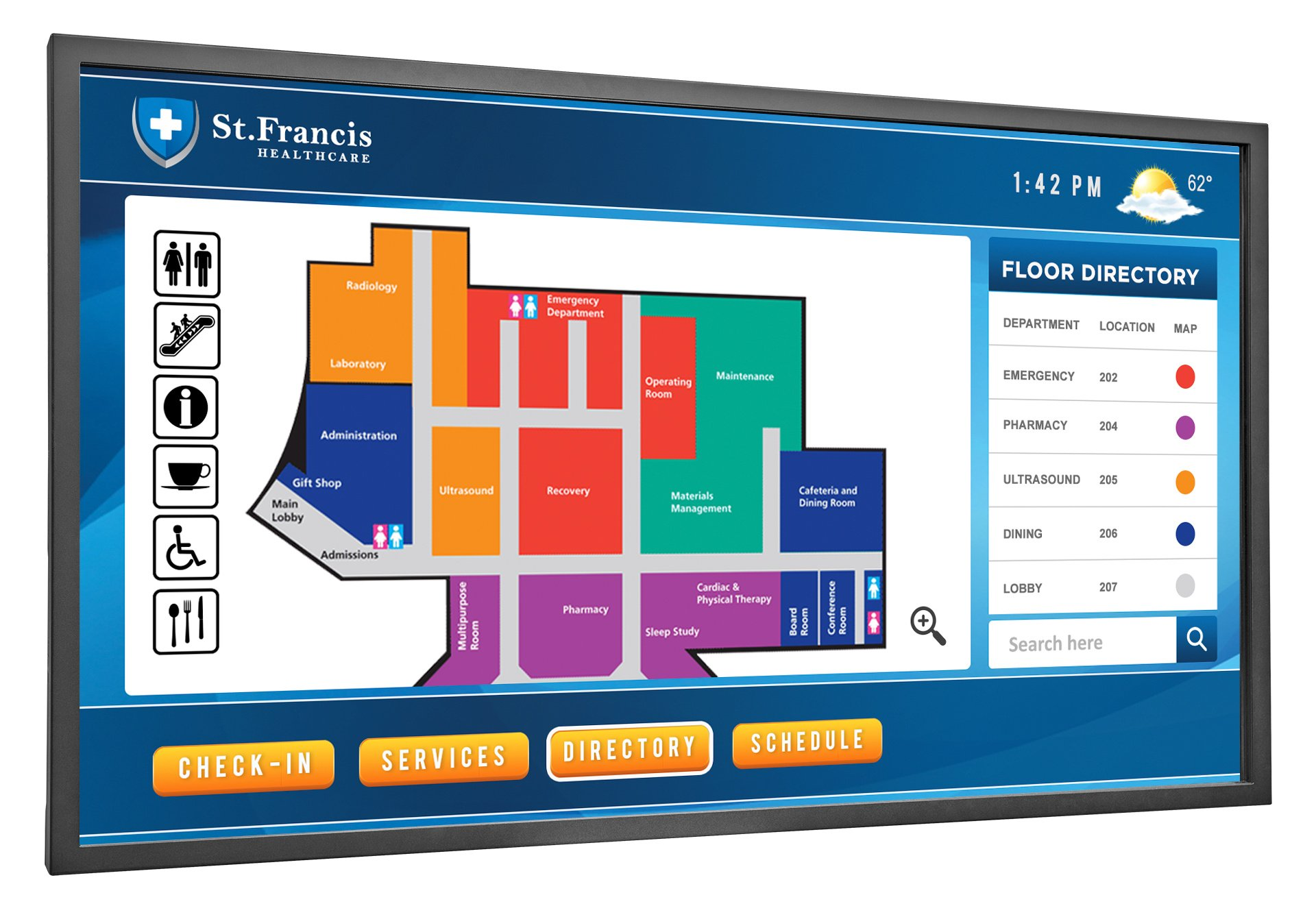 """24 x 7 65"""" Ultra Slim LCD Display with LED Backlight"""