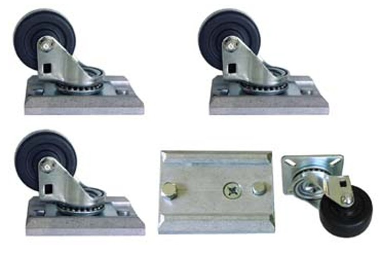 "2"" Track-Loc Removable Caster Set with Mounting Plates"