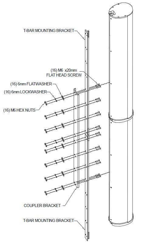 Coupler Bracket in White for ENTASYS Column Line Array System