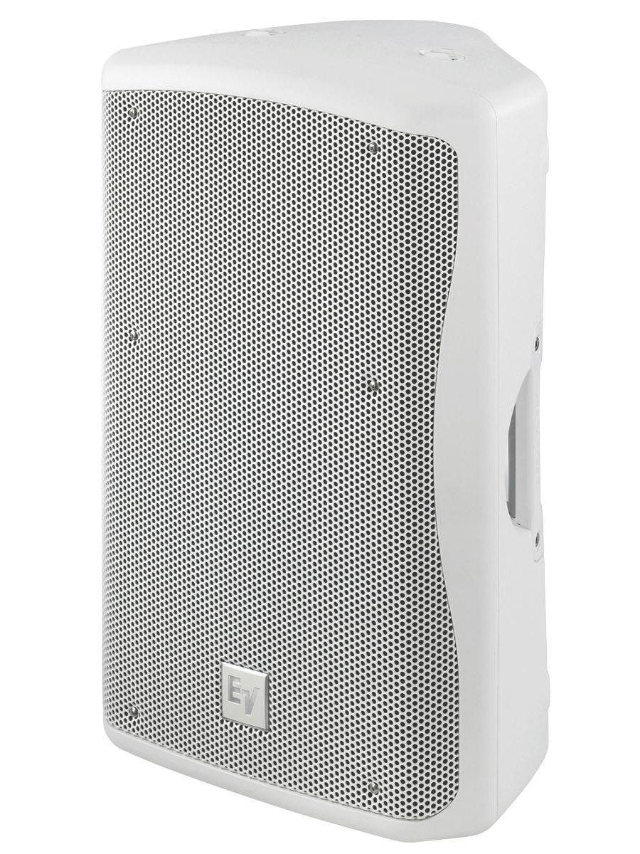 120V White Amplified Speaker with 90°x50° Coverage Pattern