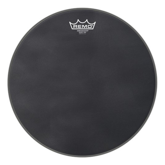 "14"" Ambassador Black Suede Snare Side Drumhead"