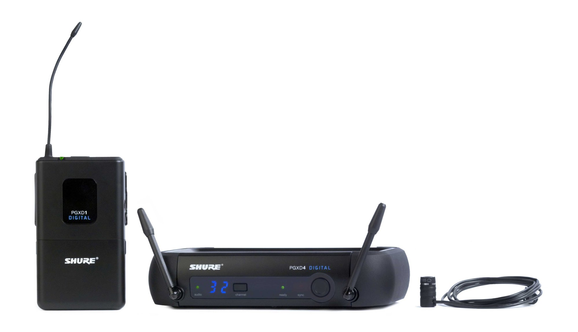 Digital Wireless System with WL185 Lavalier Microphone