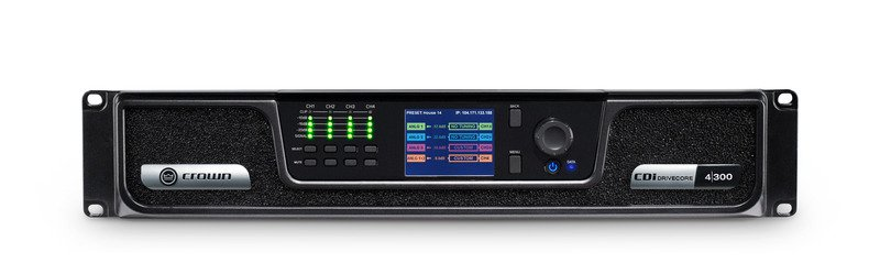 Crown CDi 4|300 Analog Input, 4 Channel, 300W Per Output Channel, Amplifier CDI4x300-U-US
