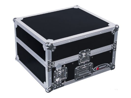 Pro Combo Rack Flight Case with 10RU Top Slanted Rack & 2RU Bottom Vertical Rack