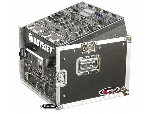 Odyssey FZ1006  Pro Combo Rack Flight Case with 10RU Top Slanted Rack & 6RU Bottom Vertical Rack FZ1006